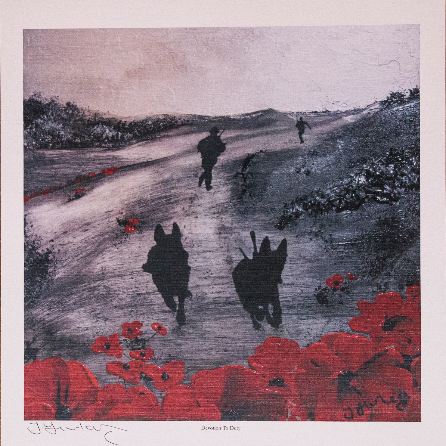 We are thrilled to announce the auction of 'Devotion to Duty' by one of the country's foremost Remembrance artists, Jacqueline Hurley.