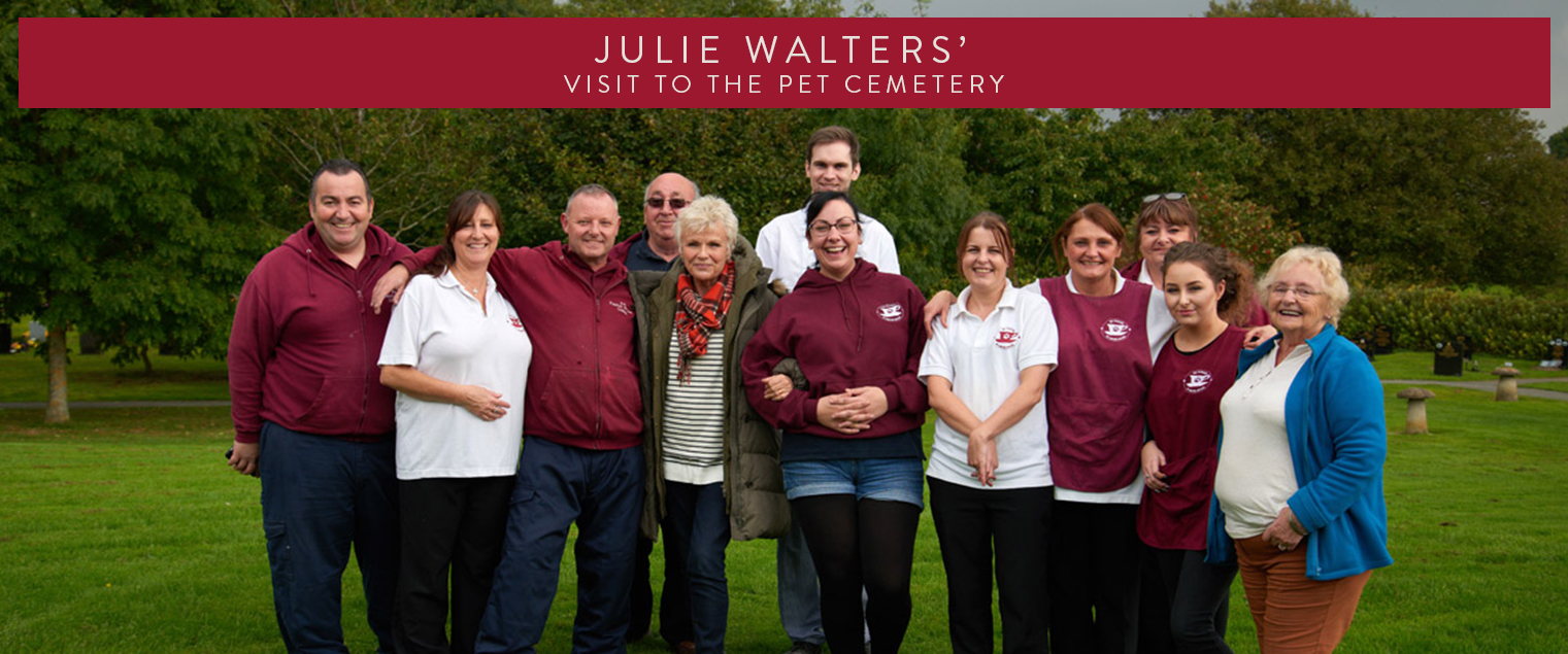 Julie Walters visits Pet Cemetery Holywell