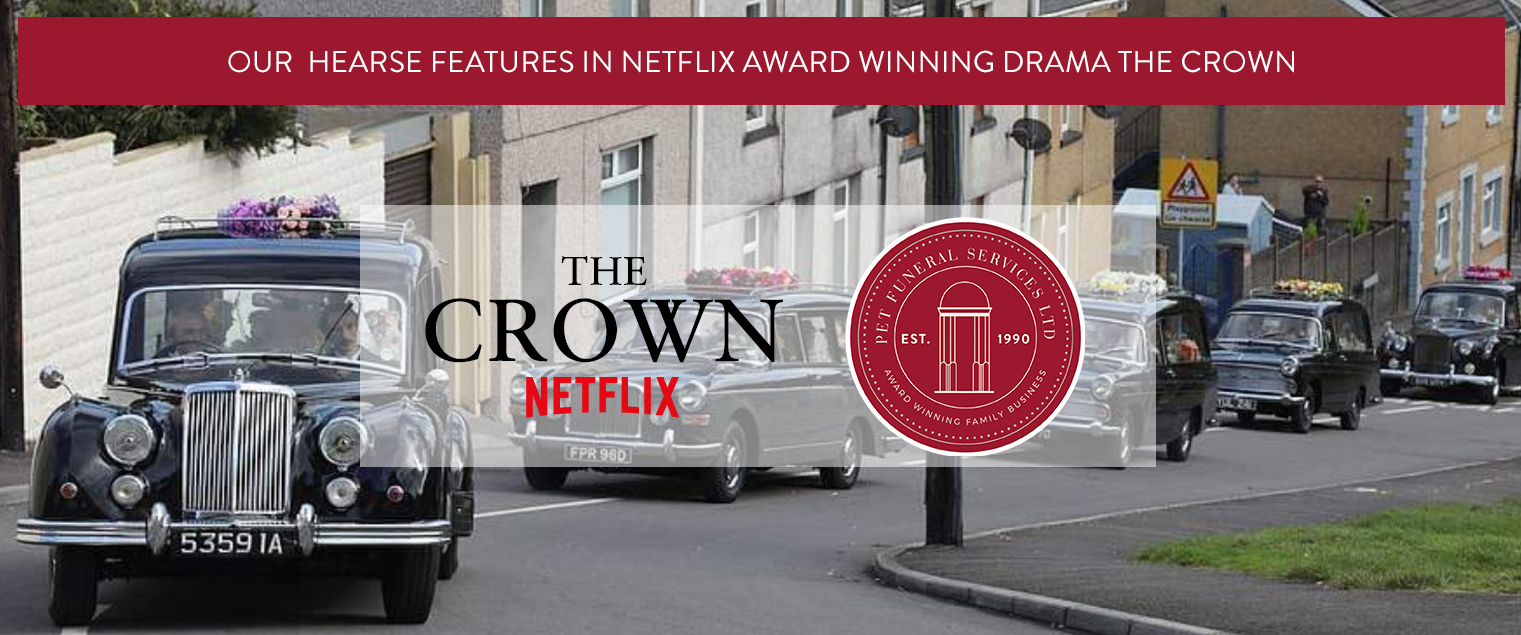 Our Hearse Features in the Netflix Award winning drama The Crown | Pet Funeral Services Flintshire